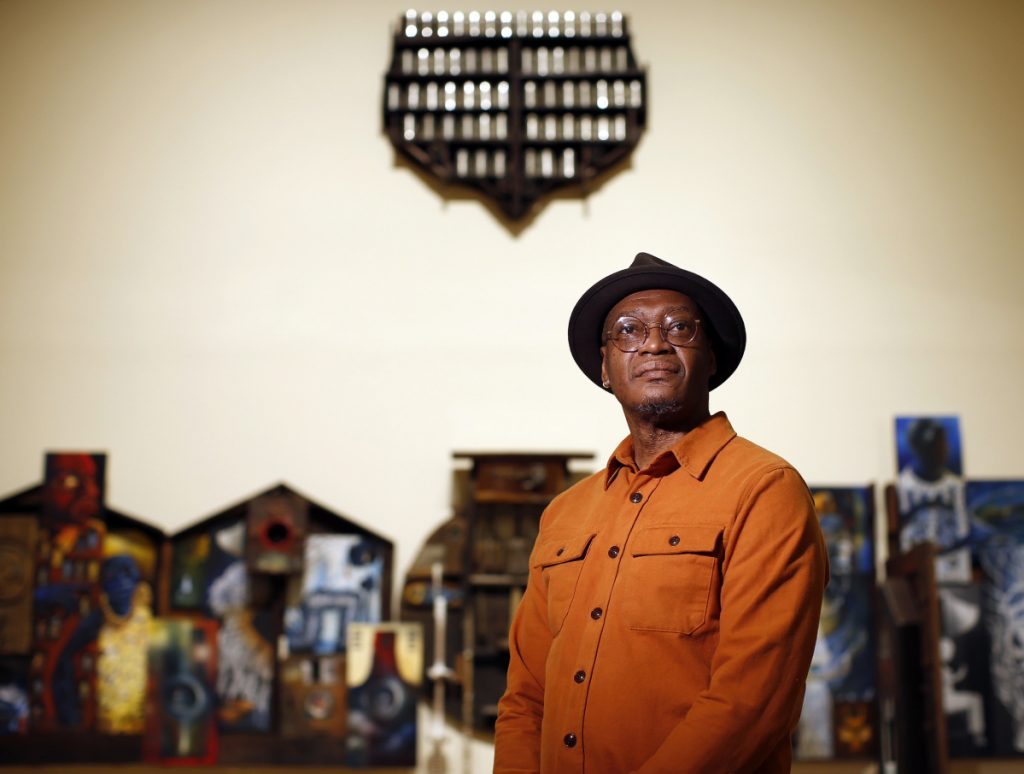 Daniel Minter's 'A Distant Holla' plumbs richness of African-American life
